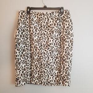 WHBM leopard print pencil skirt -14
